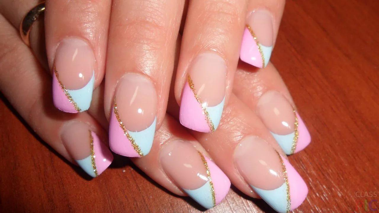 Красивый маникюр на лето нарощенные ногти